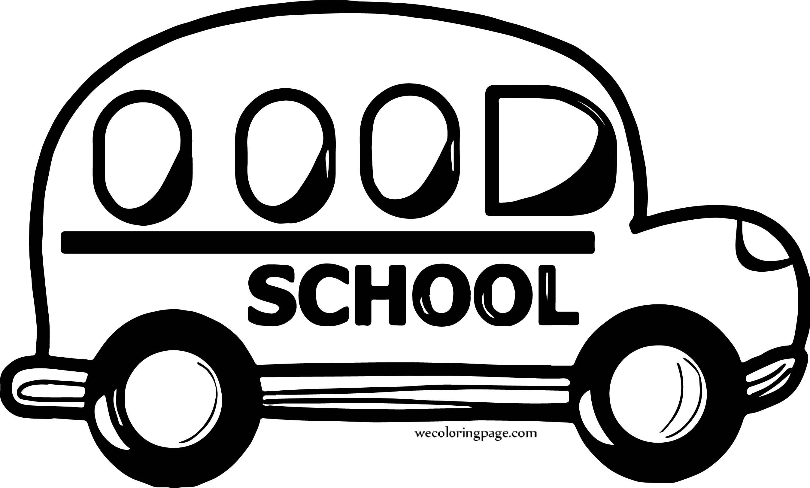 School Car Coloring Page