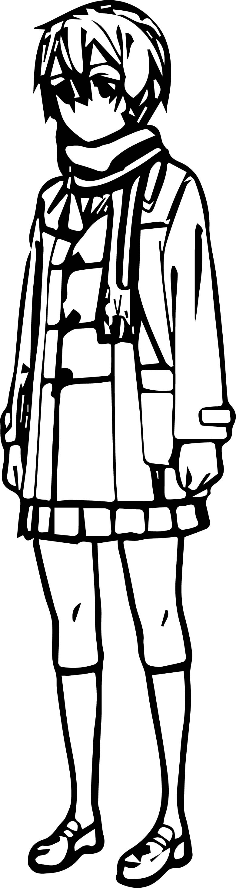 Shino Character Design Coloring Page