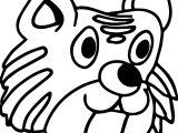 Shock Cat Face Coloring Page