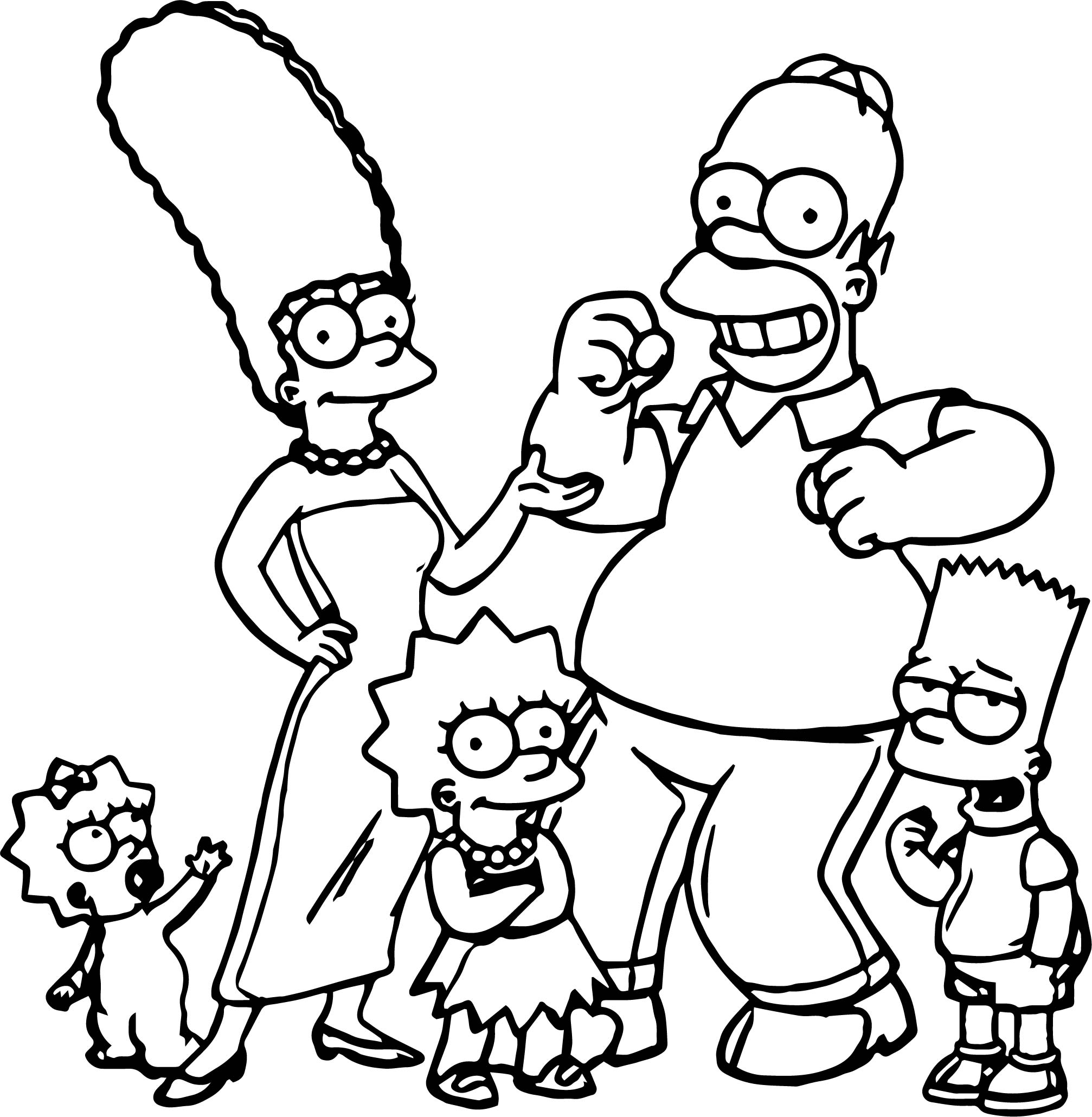 Simpson Coloring Pages - Best Image Of Coloring Page Revimage.Co