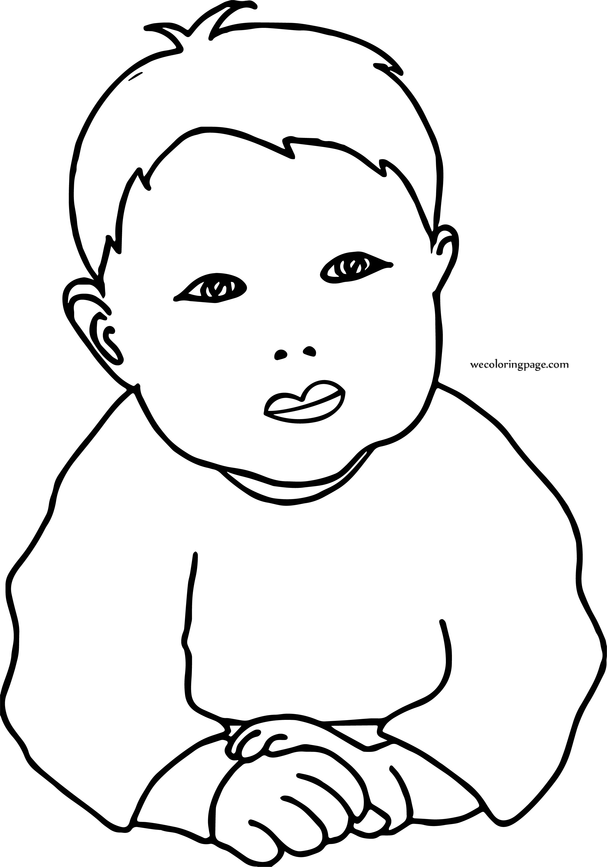 Small Boy Coloring Page