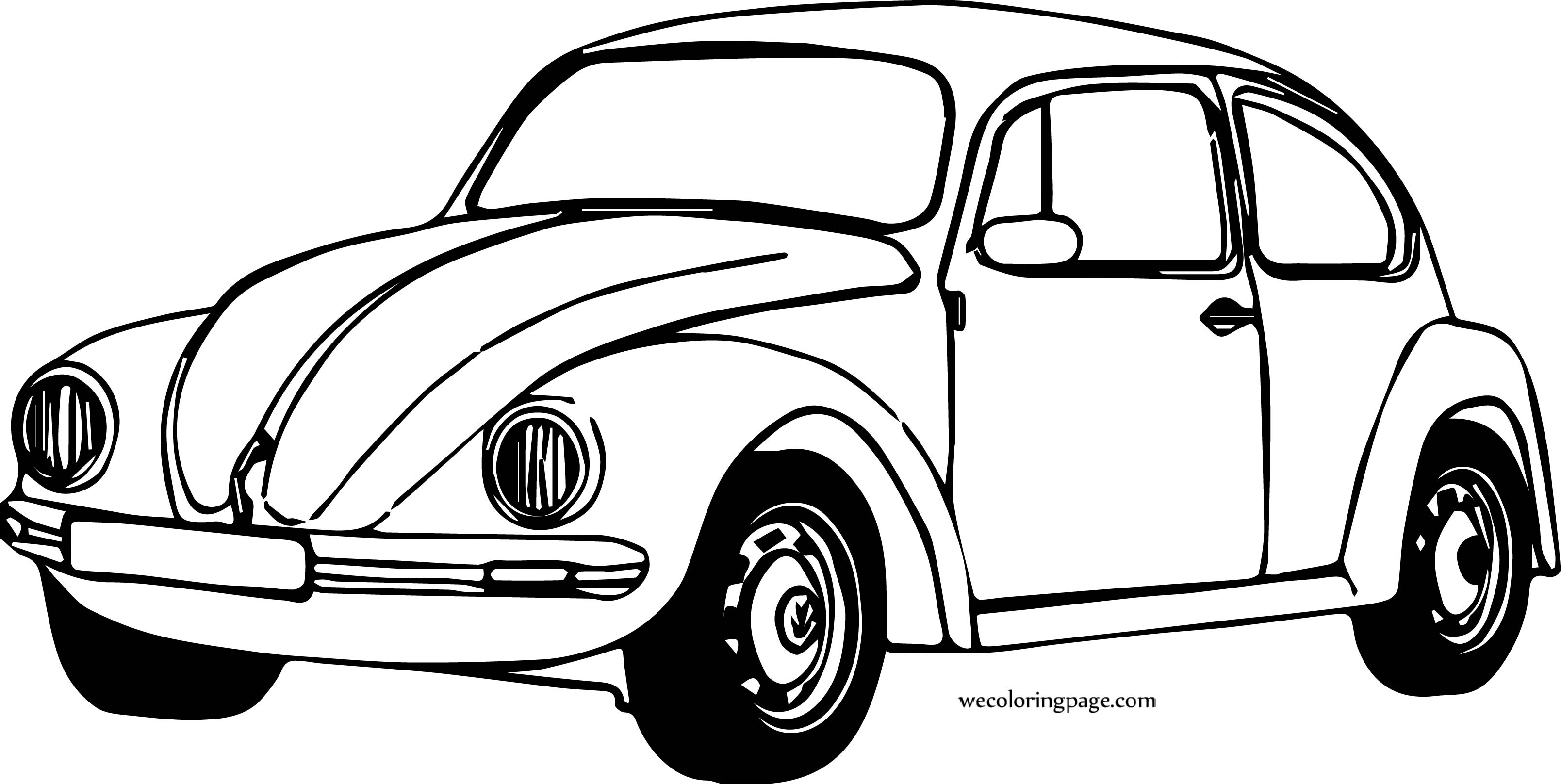 Small Turtle Car Coloring Page