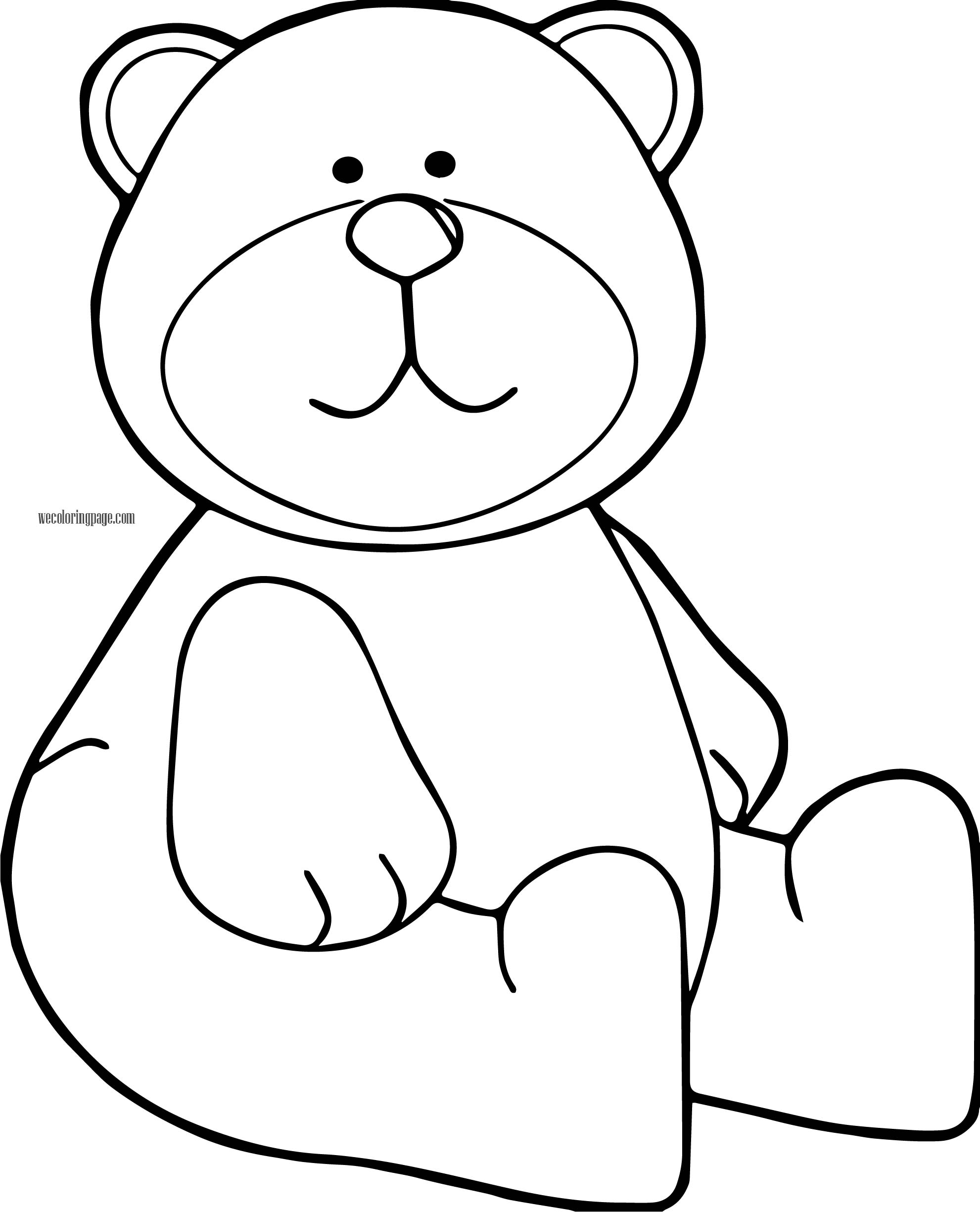 Sound Bear Coloring Page