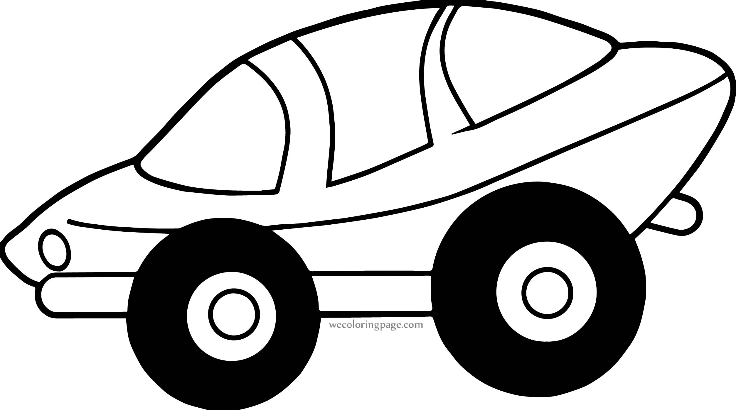 Space Car Side View Coloring page
