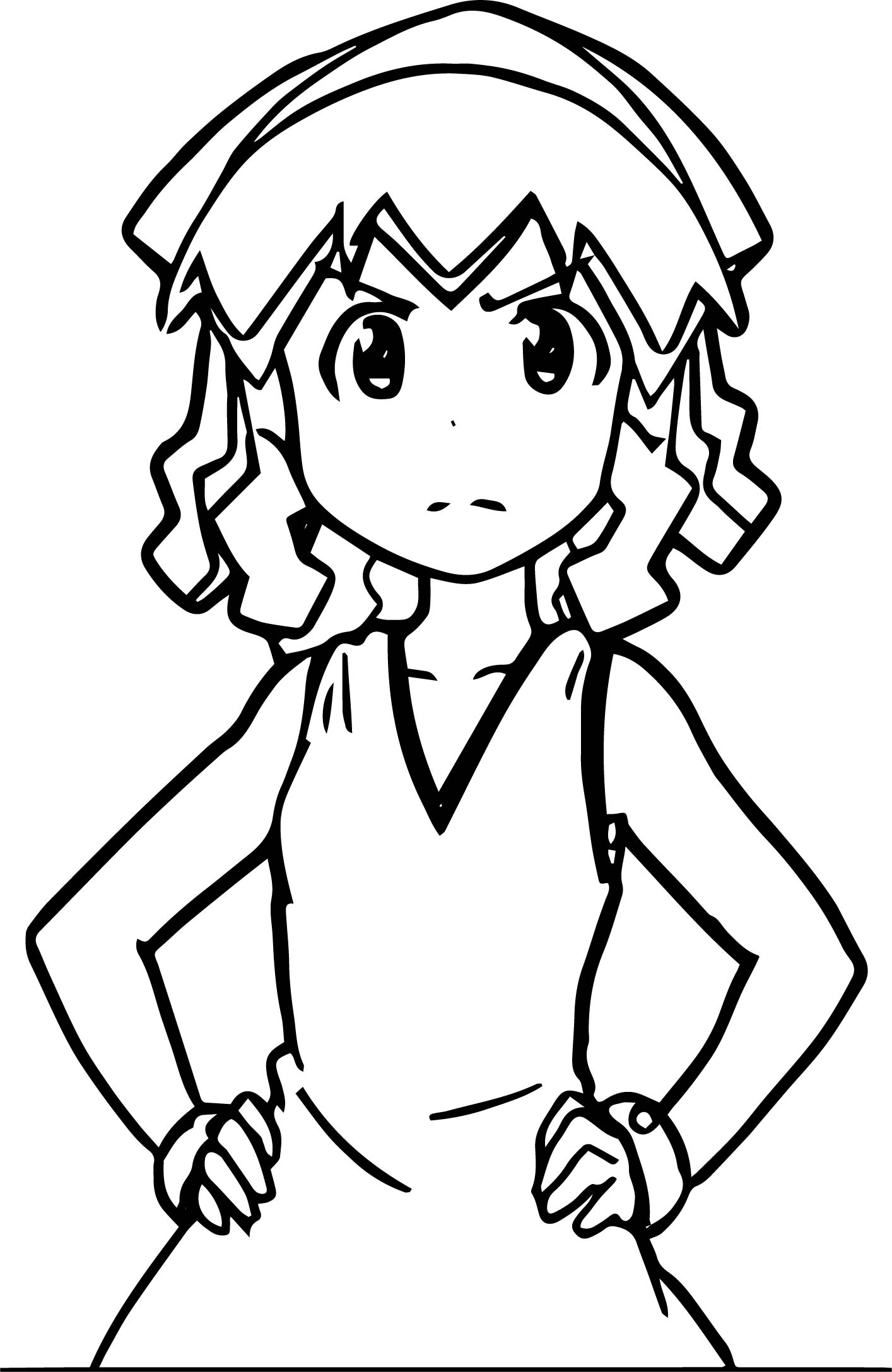 Squid Girl Not Happy Coloring Page