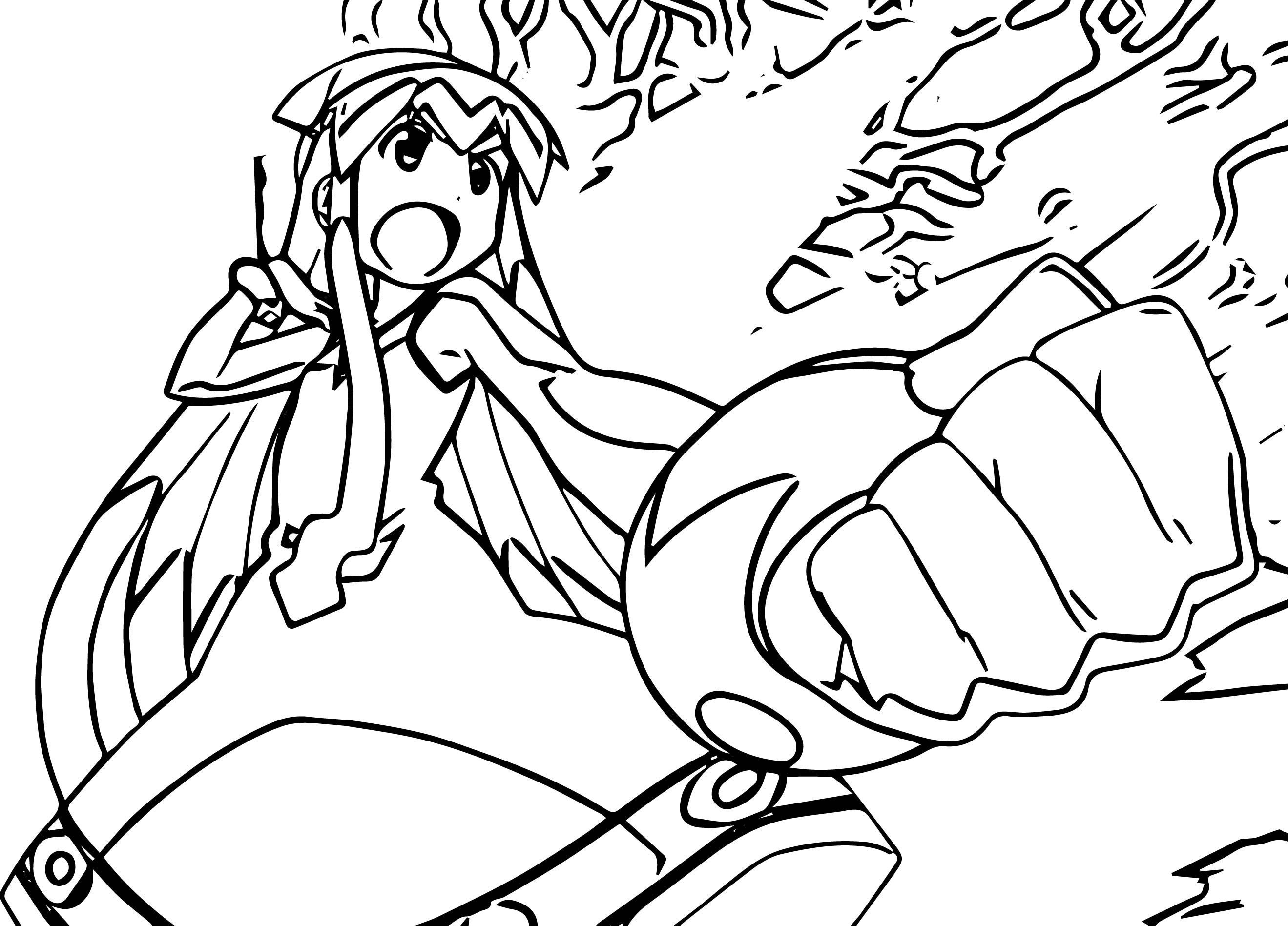 Squid Girl Okey Coloring Page