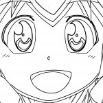 Squid Girl Outline Smile Coloring Page