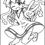 Squid Girl Peace Coloring Page