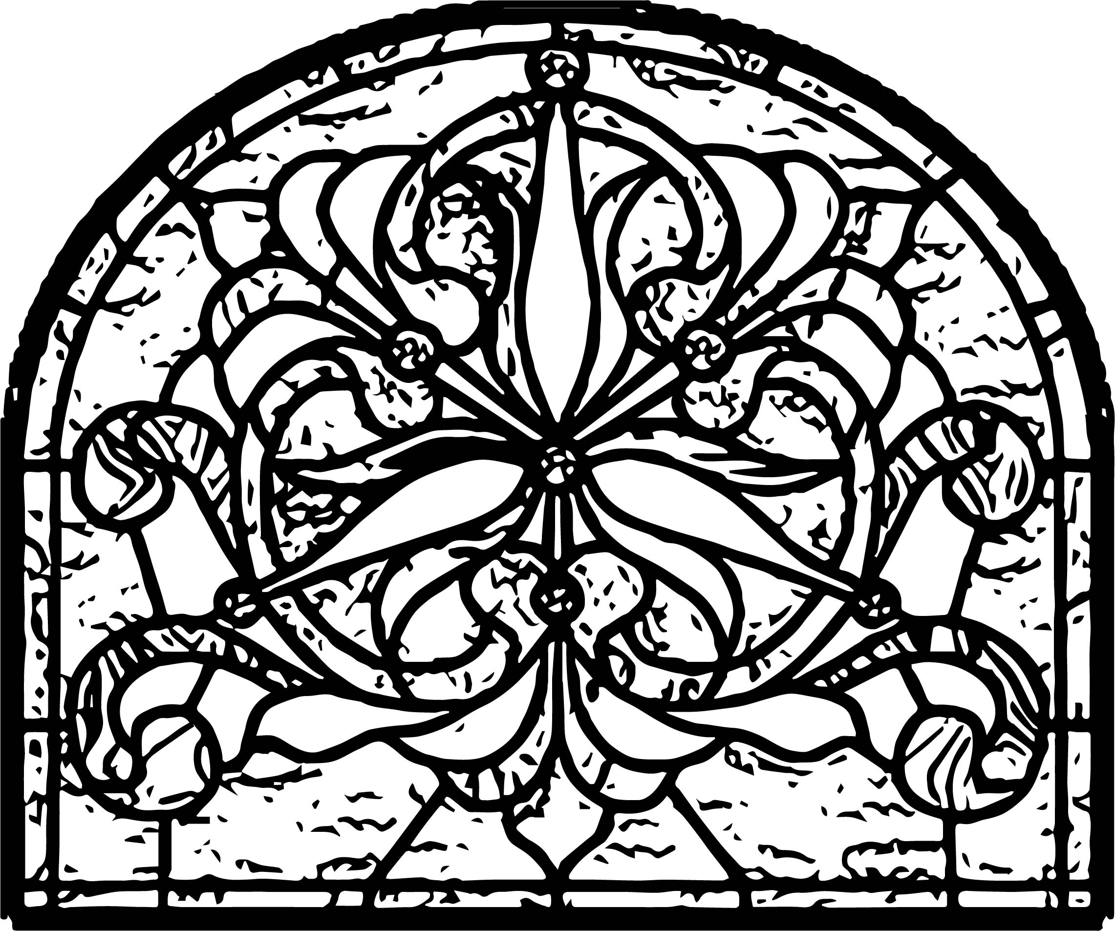 Stained Glass Panel Stock Coloring Page