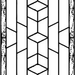 Stained Rectrangle Coloring Page