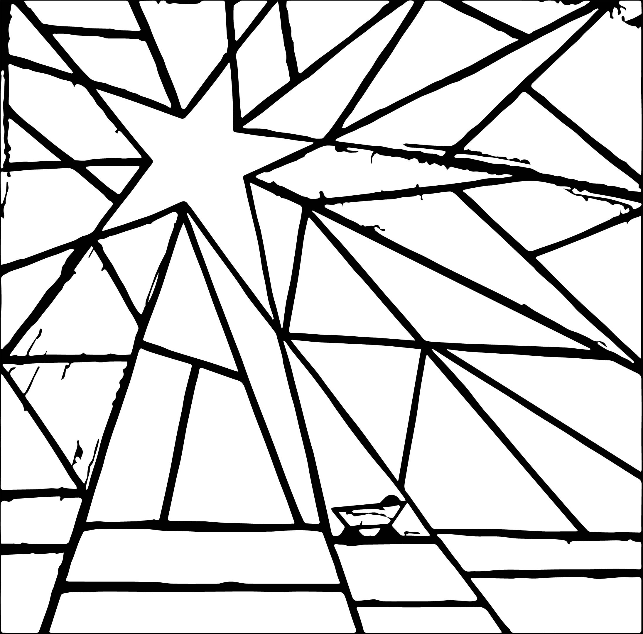 Star Stained Coloring Page