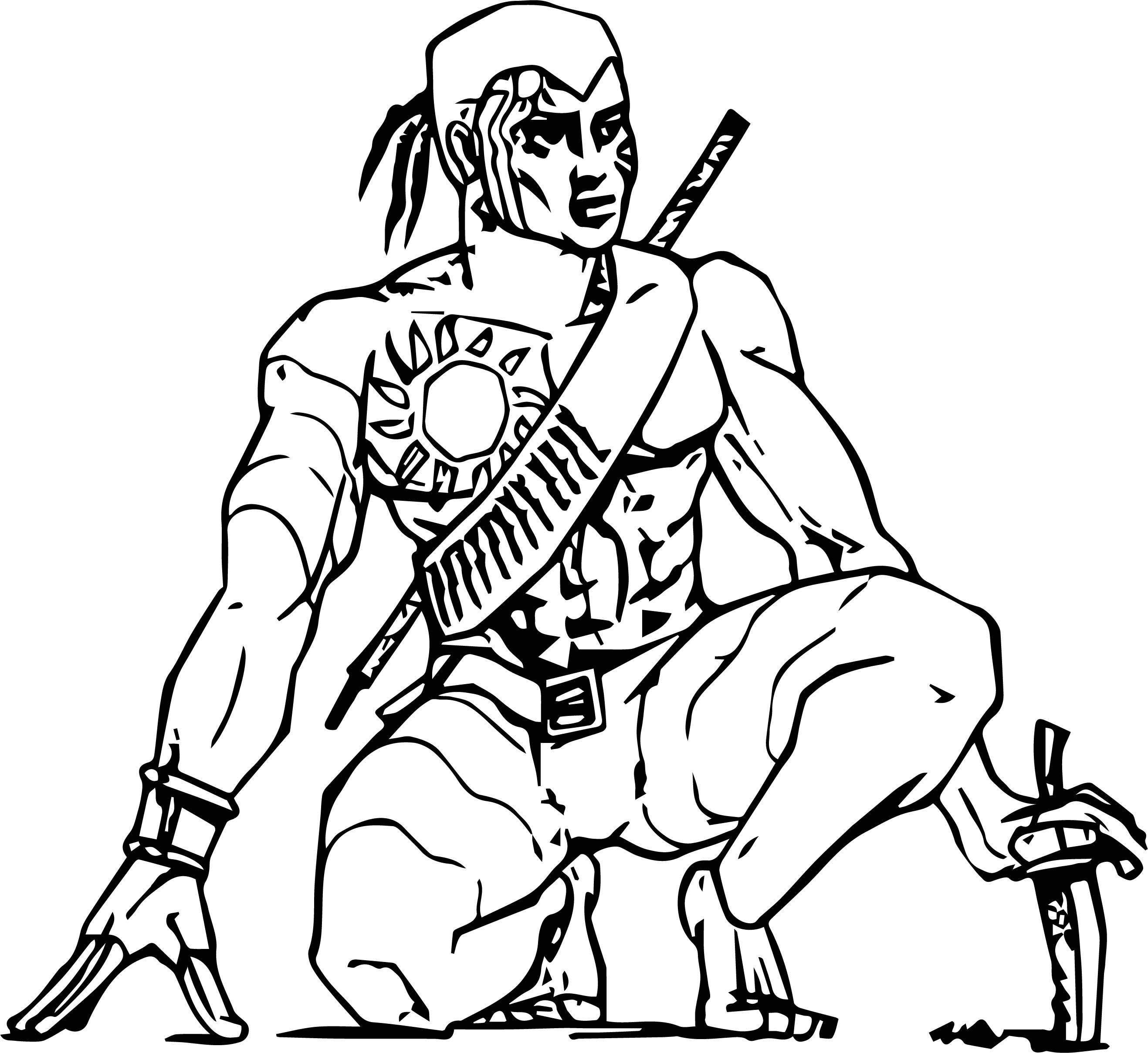 Tarzan Character Design Coloring Page