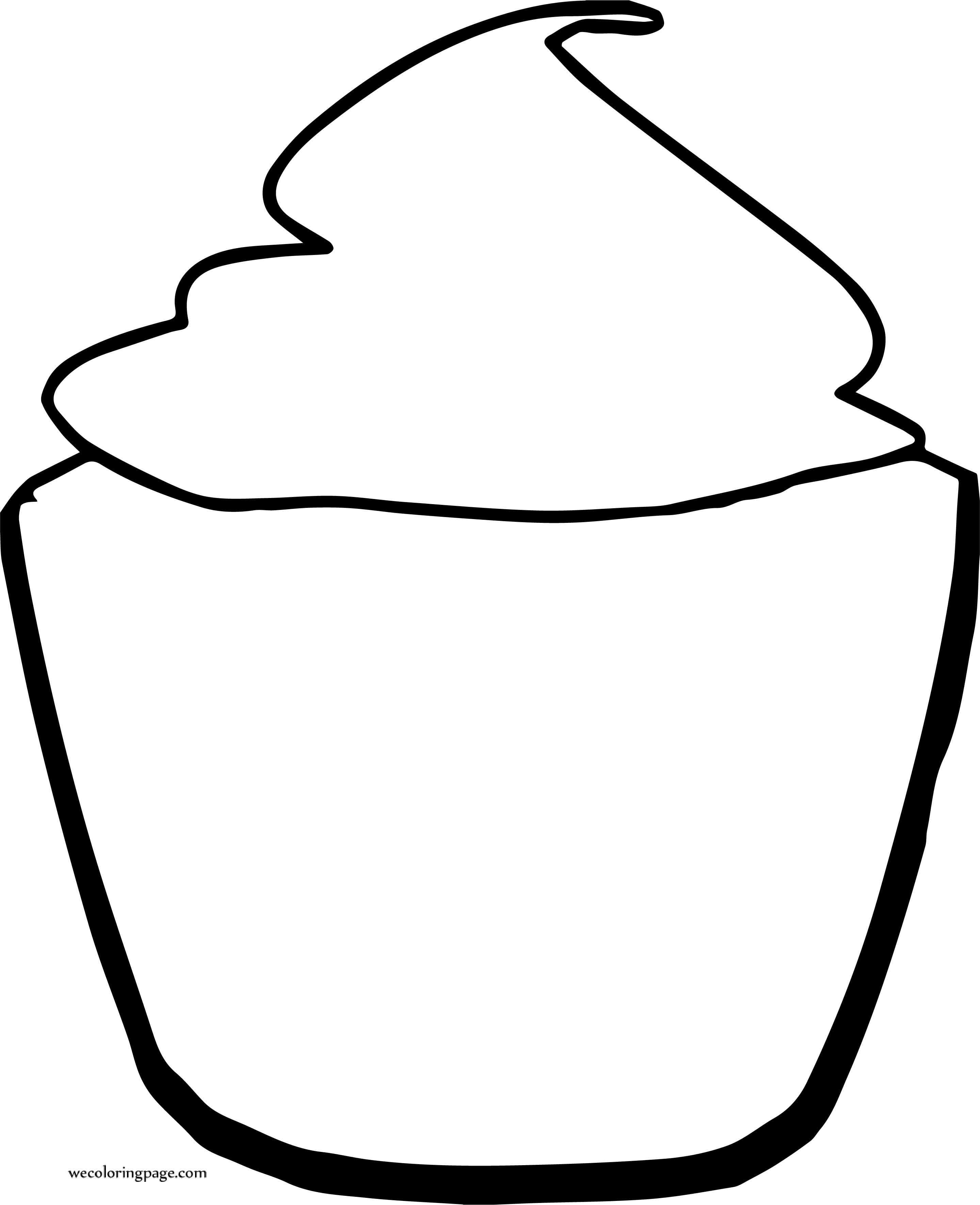 Teal Cupcake Coloring Page