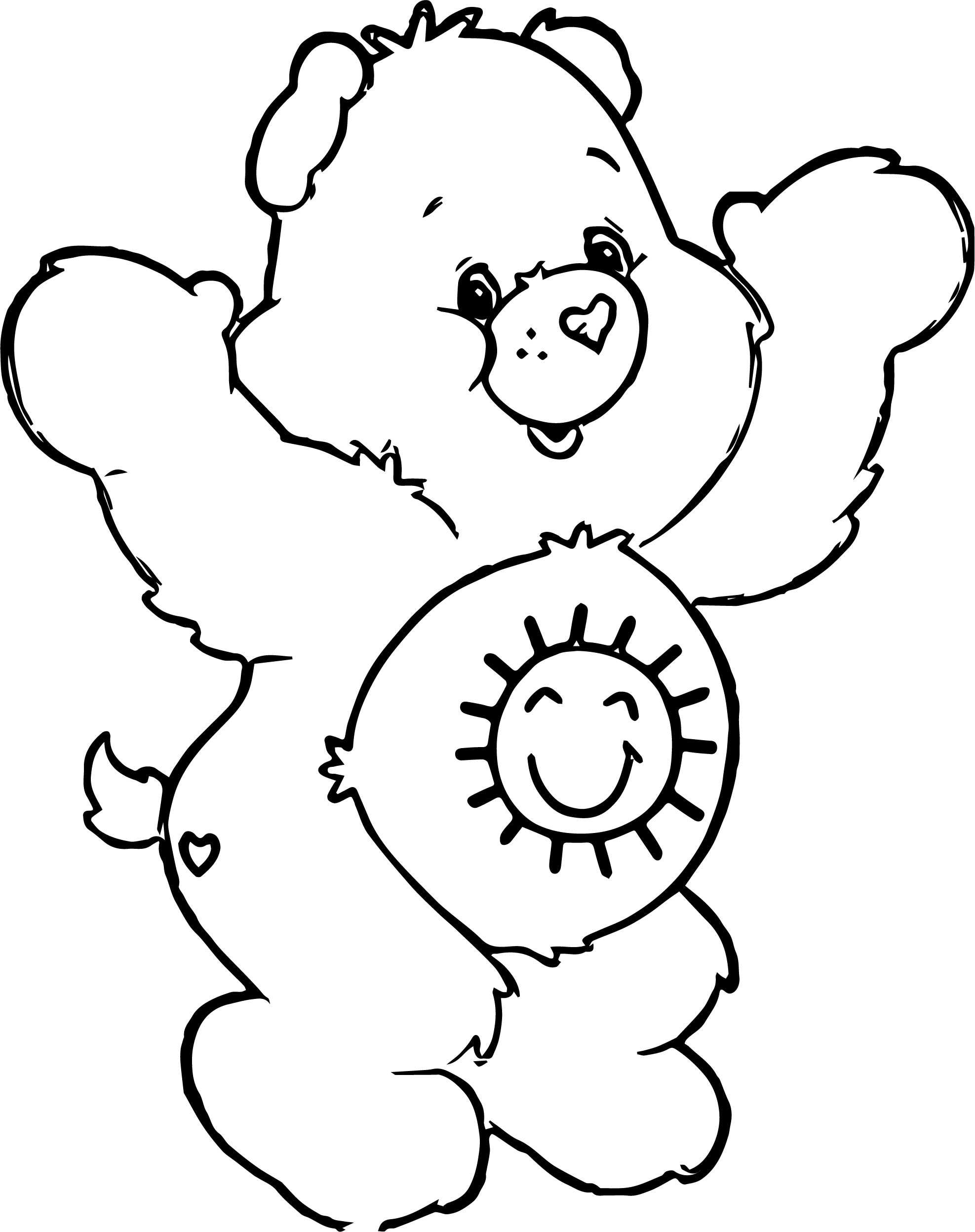 Tell Bear Coloring Page