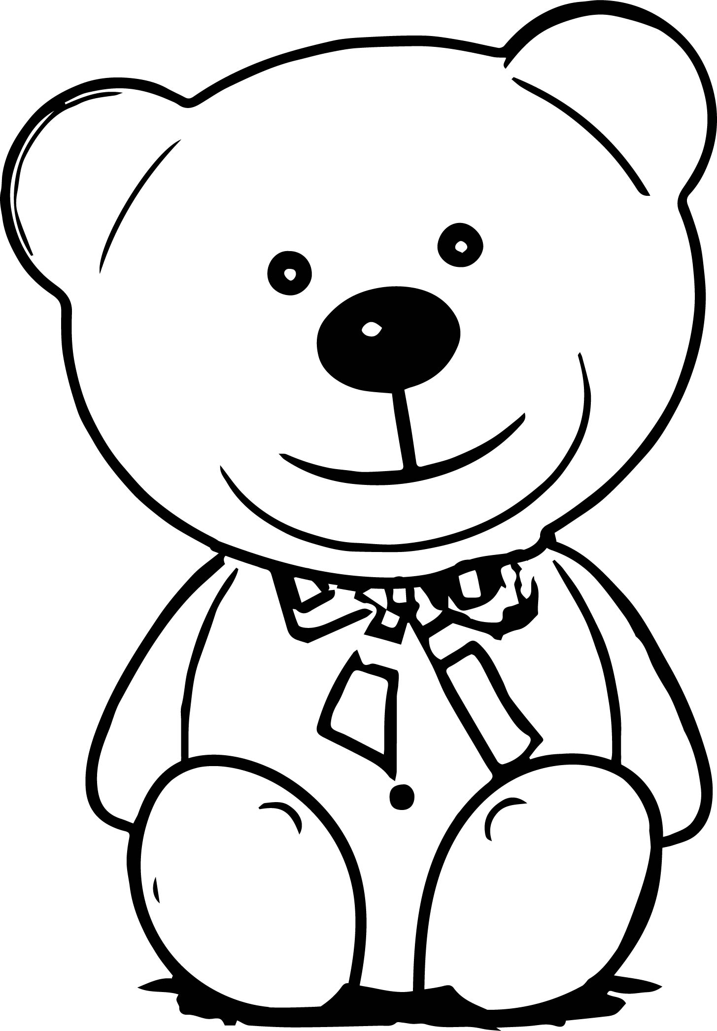Their Bear Coloring Page