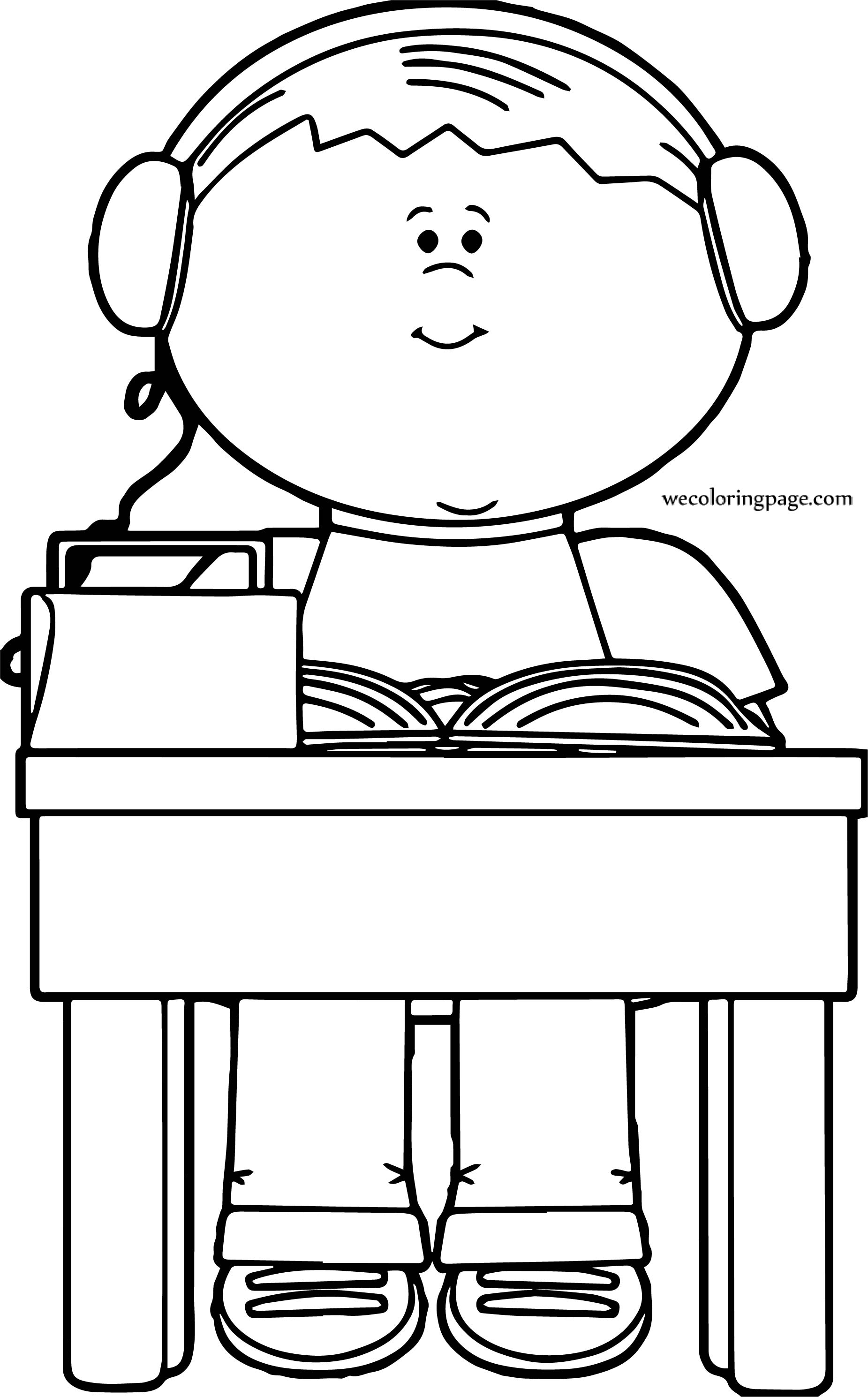 There Boy Coloring Page