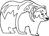 These Outline Bear Coloring Page