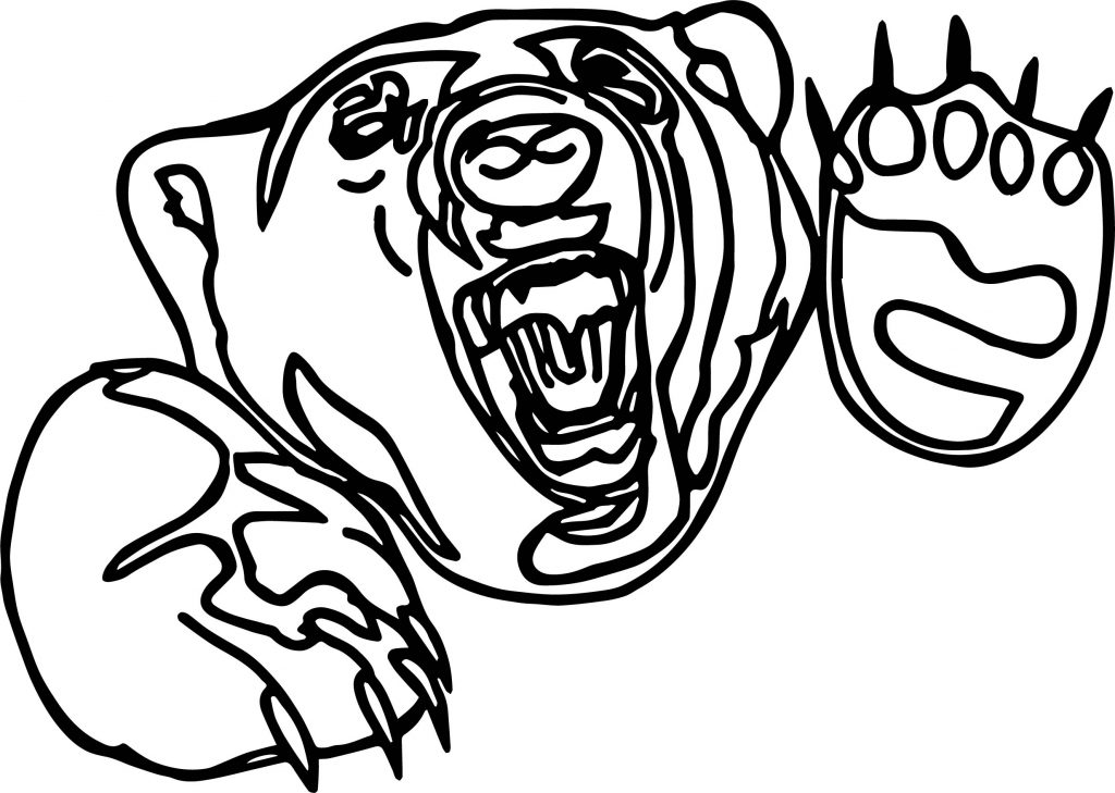 thing angry outline bear coloring page wecoloringpage - Outline Of A Bear