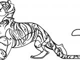 Tiger Characters Coloring Page