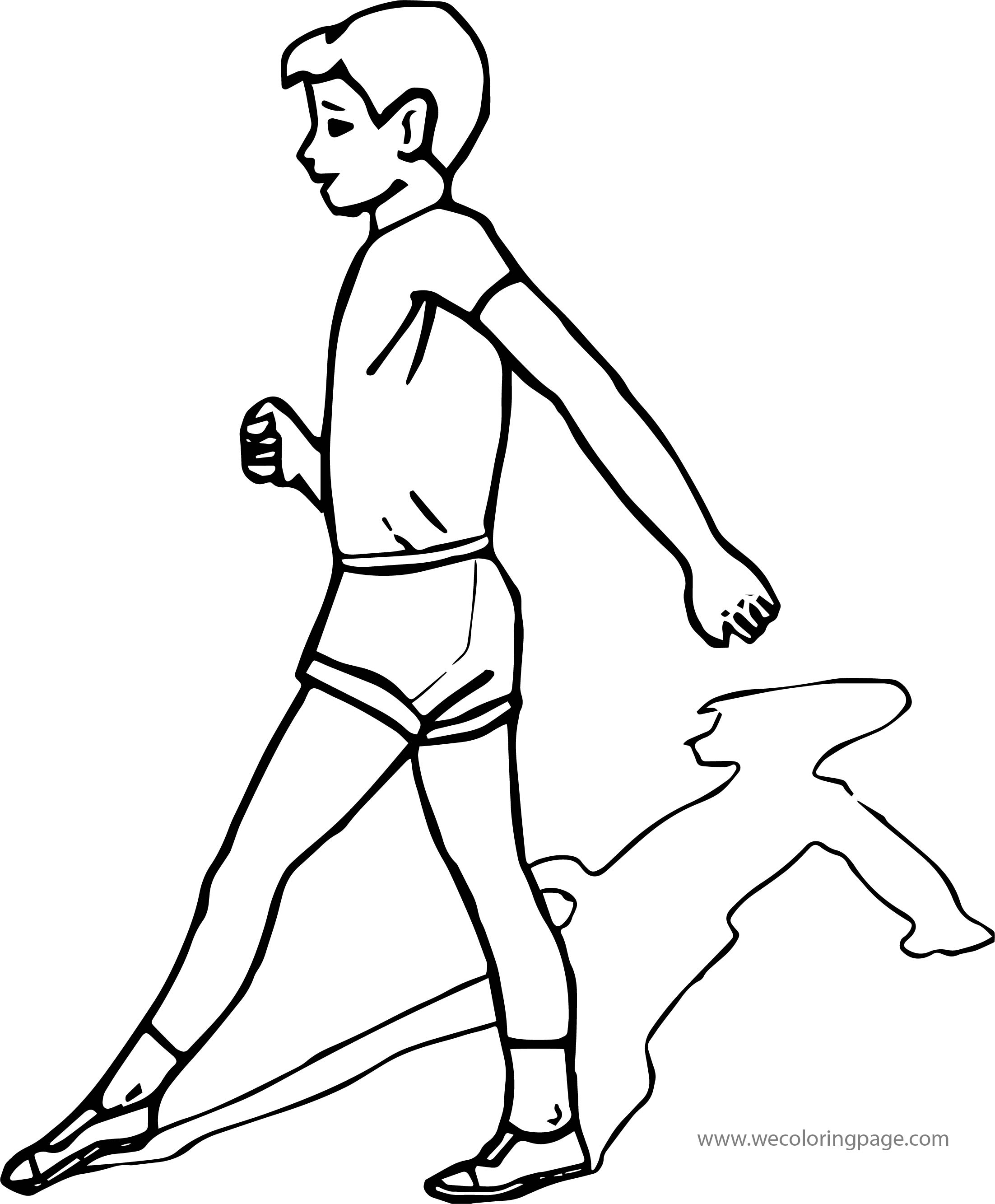 To Boy Coloring Page