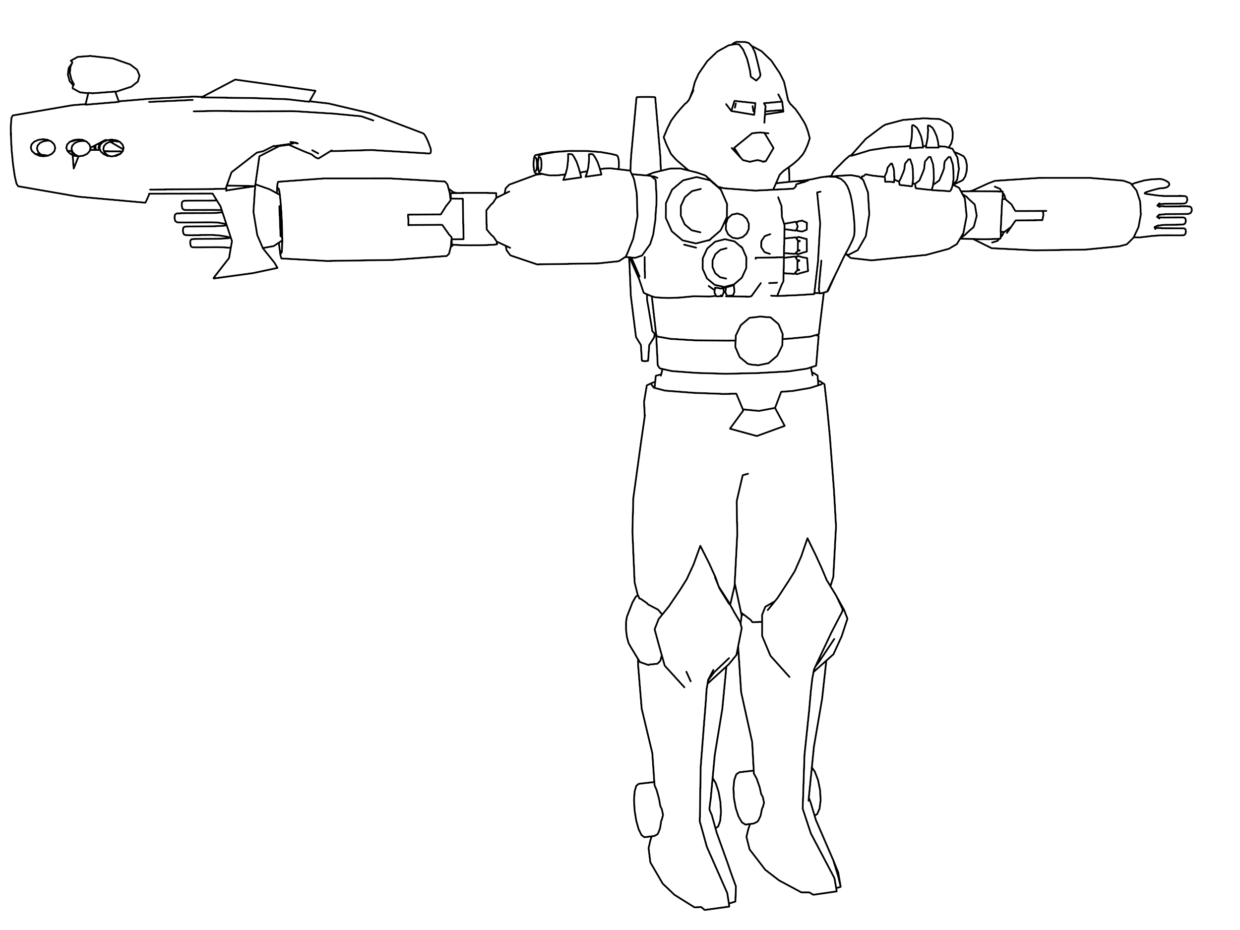 Turrican Robot Character Coloring Page