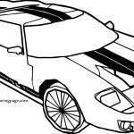Two Line Sports Car Coloring Page