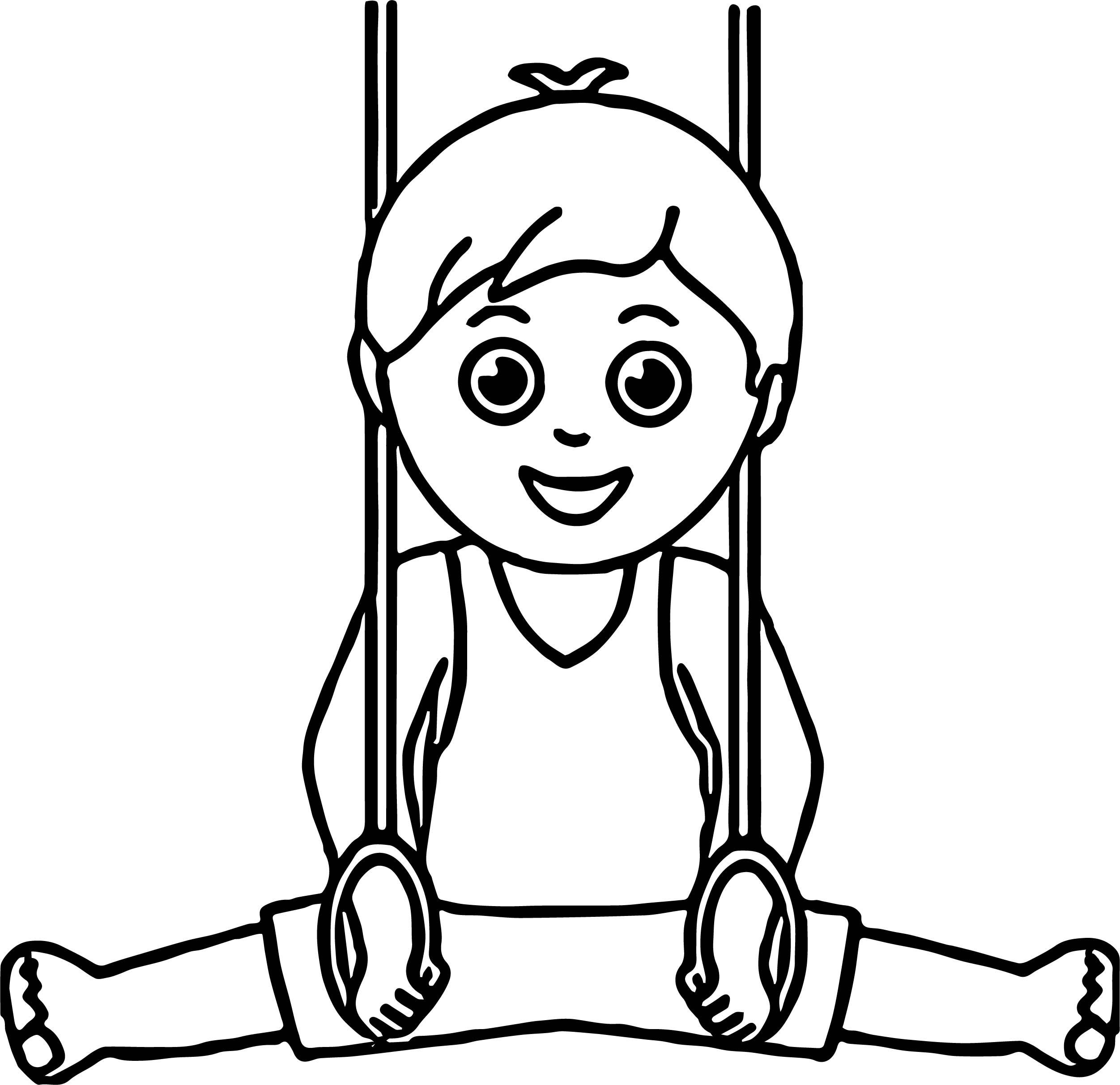 Use Boy Gymnastic Coloring Page