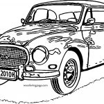 Very Old Vintage Car Coloring Page