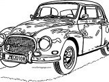 Very Old Vintage Car Coloring Page