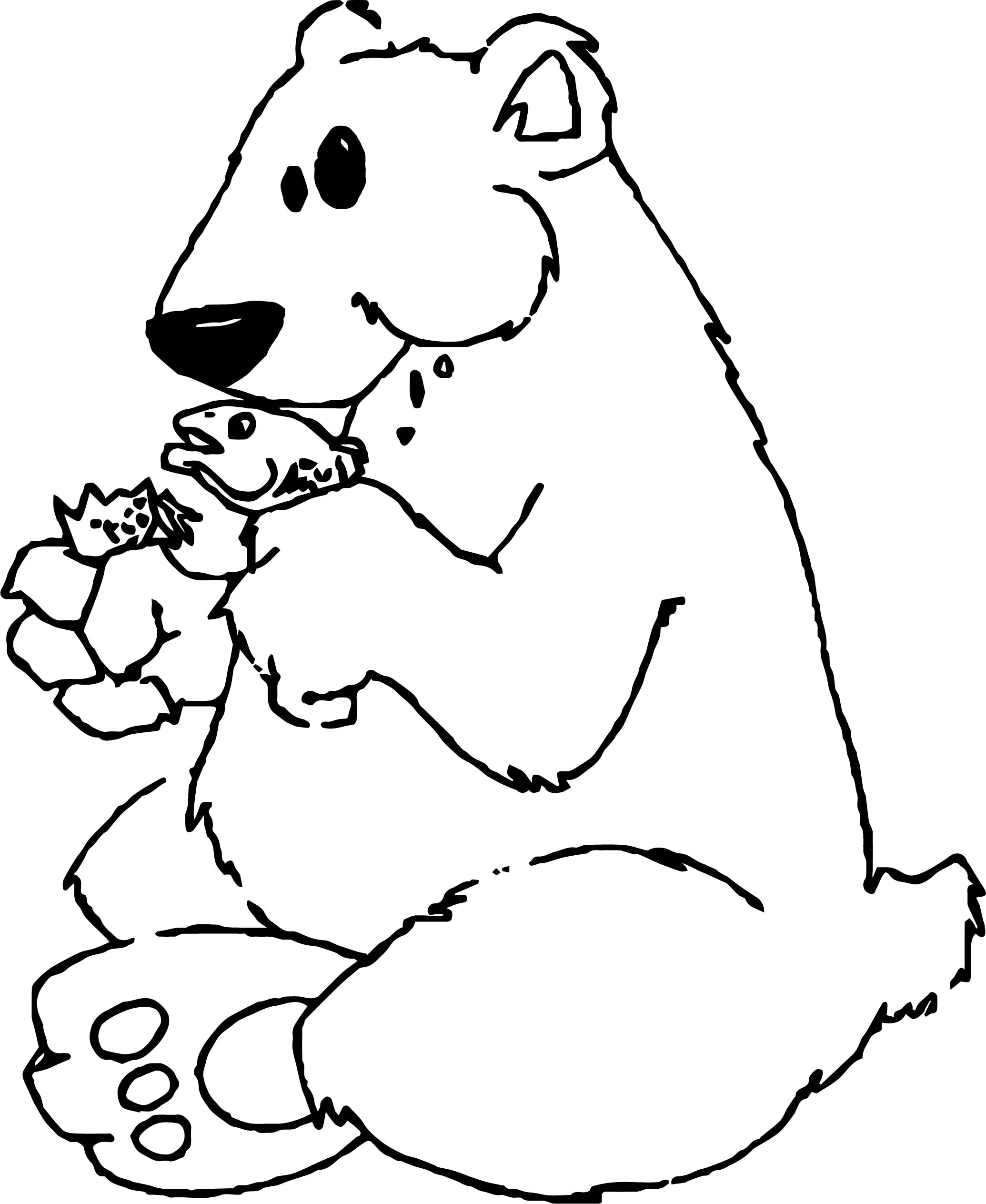 Went Bear Coloring Page For Kids
