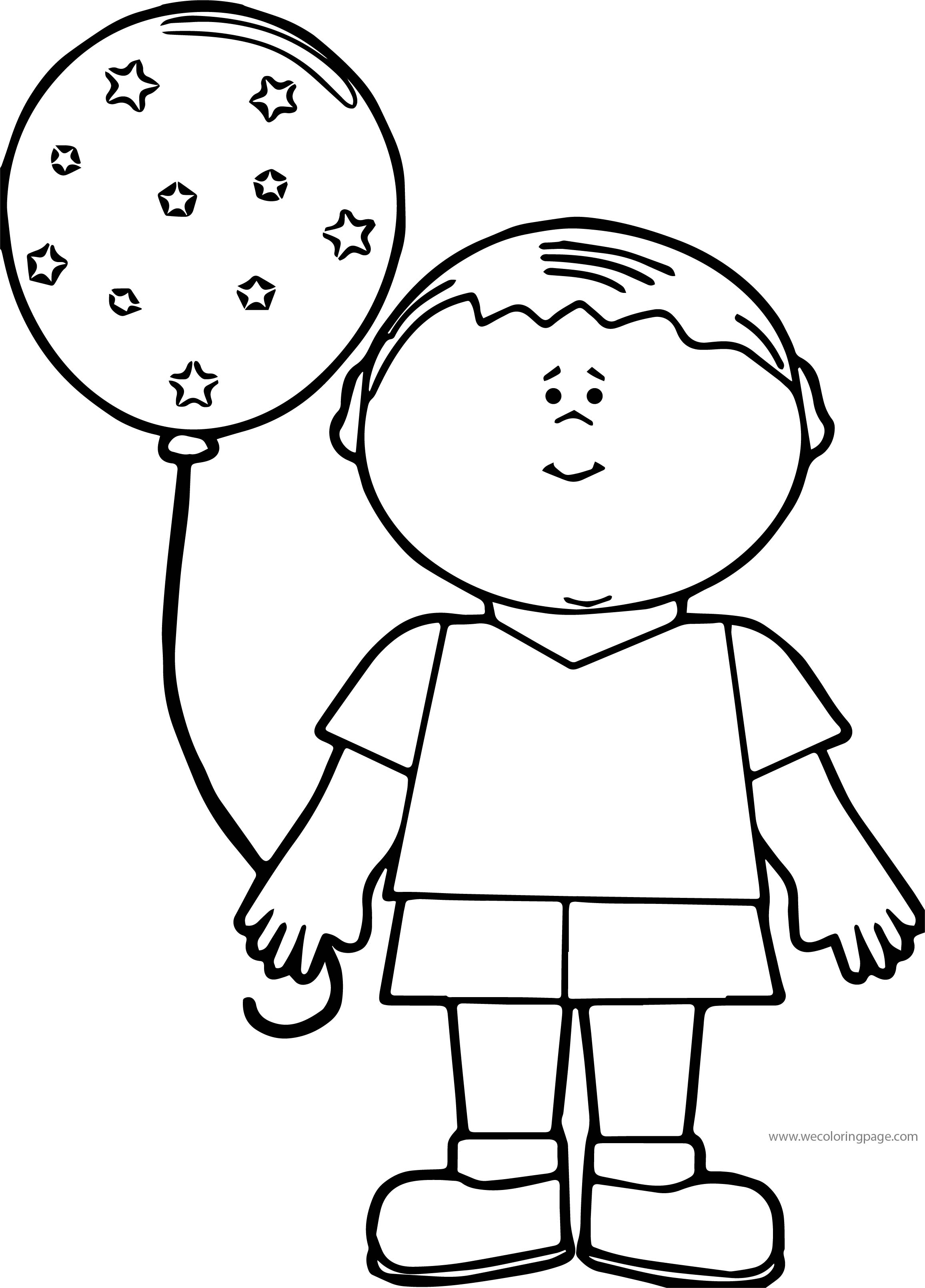 Were Balloon Boy Coloring Page