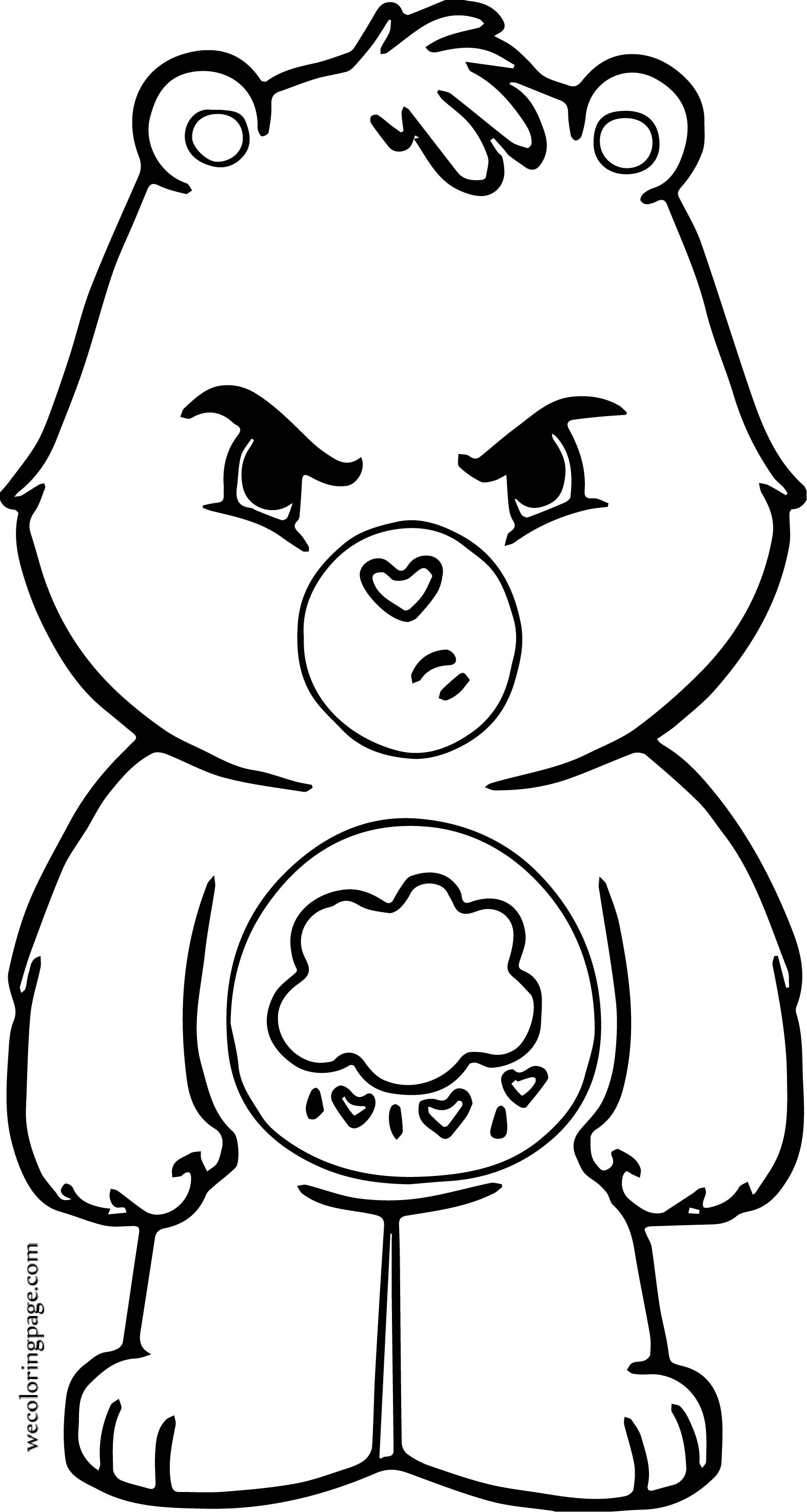 Were Bear Coloring Page For Kids