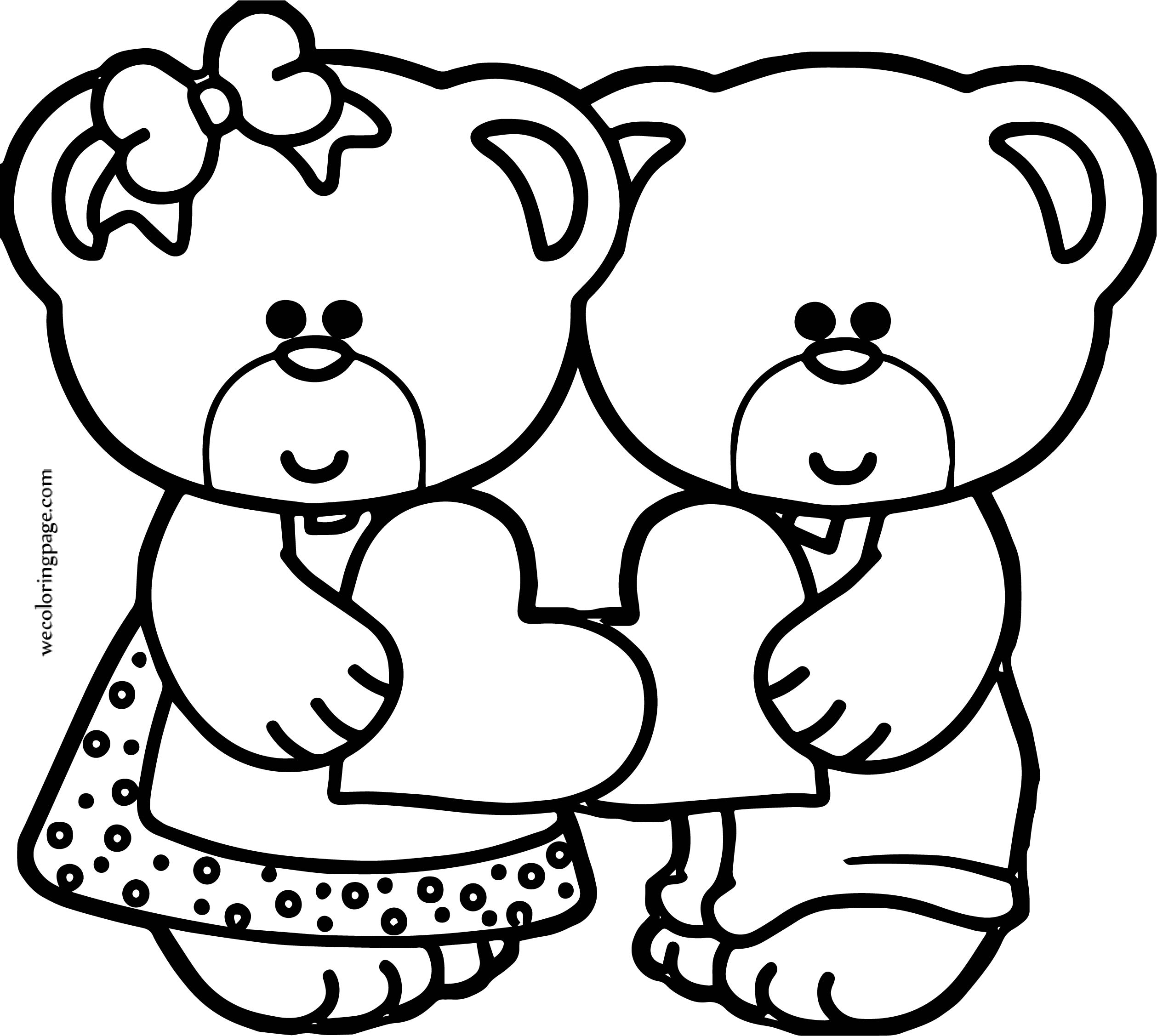 What Bear Coloring Page For Girls