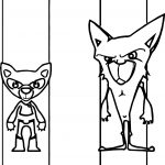 Wolf Fox Characters Coloring Page