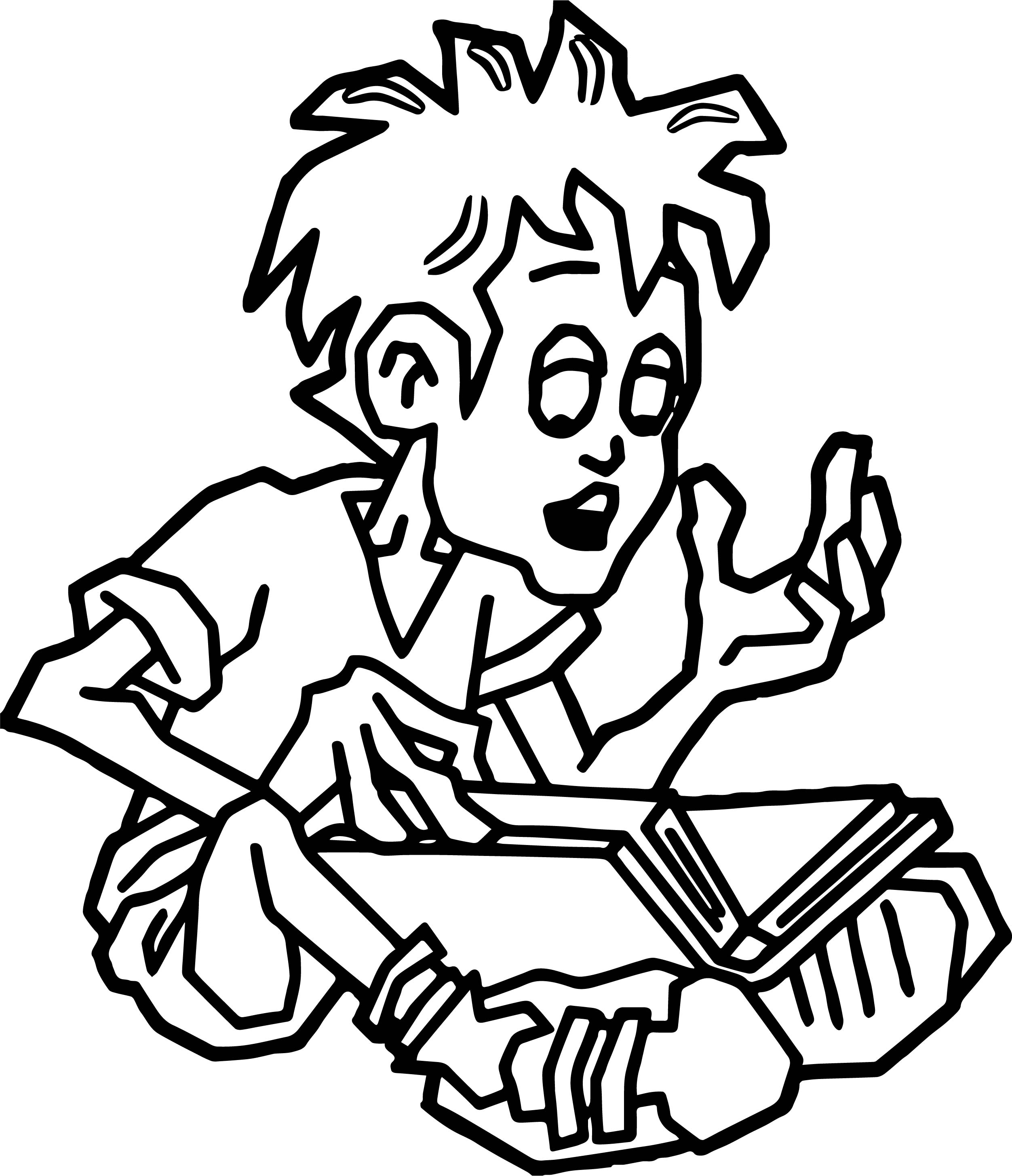 Word Reading Book Boy Coloring Page