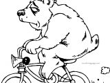 You Bear Bicycle Coloring Page