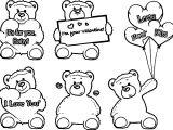 Your Bear Valentine Coloring Page