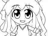 baby cute free printable squid girl coloring page