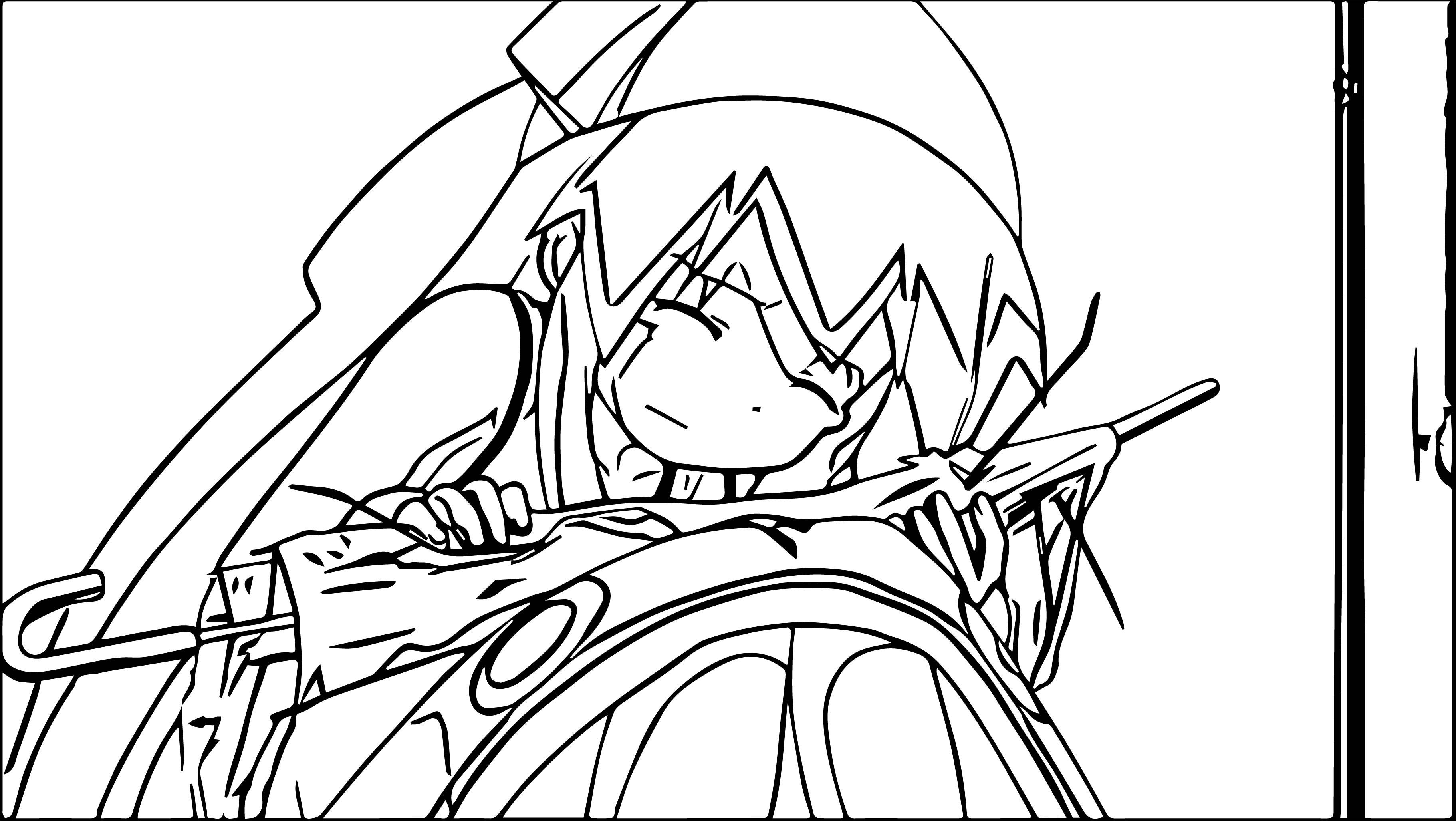 squid girl ache umbrella coloring page
