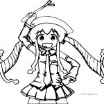 squid girl for kids free printable coloring page
