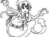 squid girl ghost coloring page