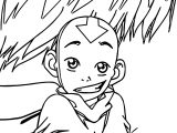 Aang Looking Innocent Avatar Aang Coloring Page