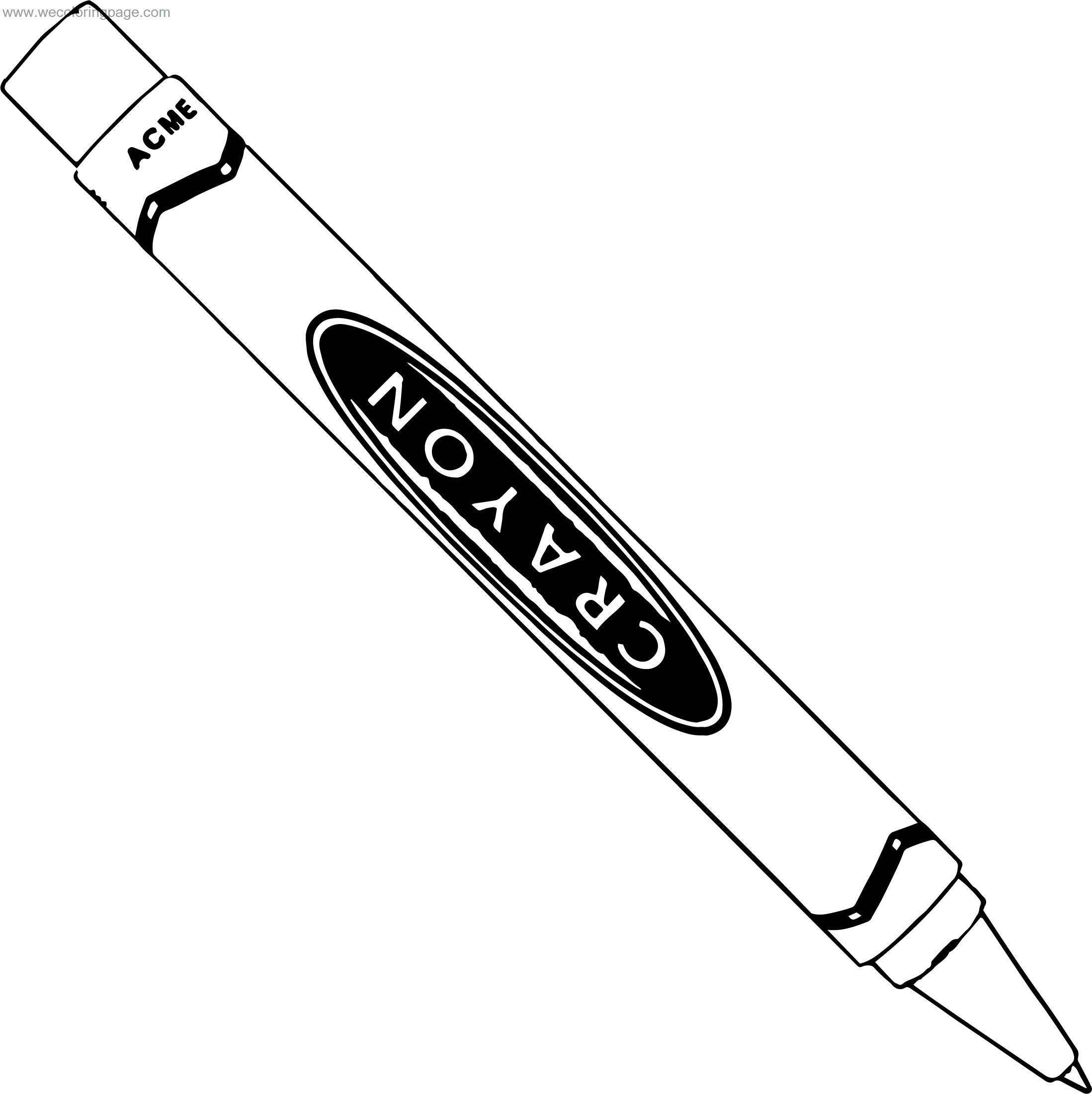 Acme Crayon Coloring Page