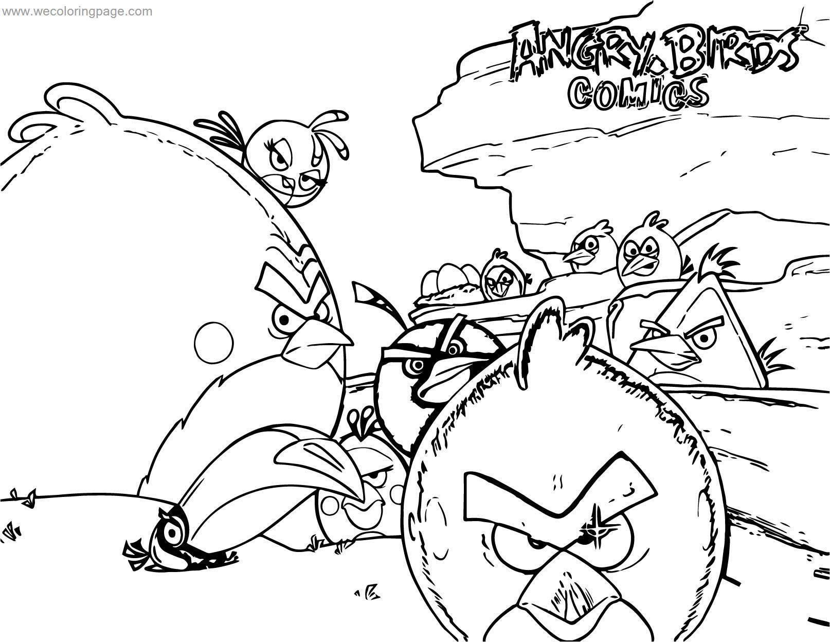 Angry Birds Comics Idw Rovio wecoloringpage.com Coloring Page