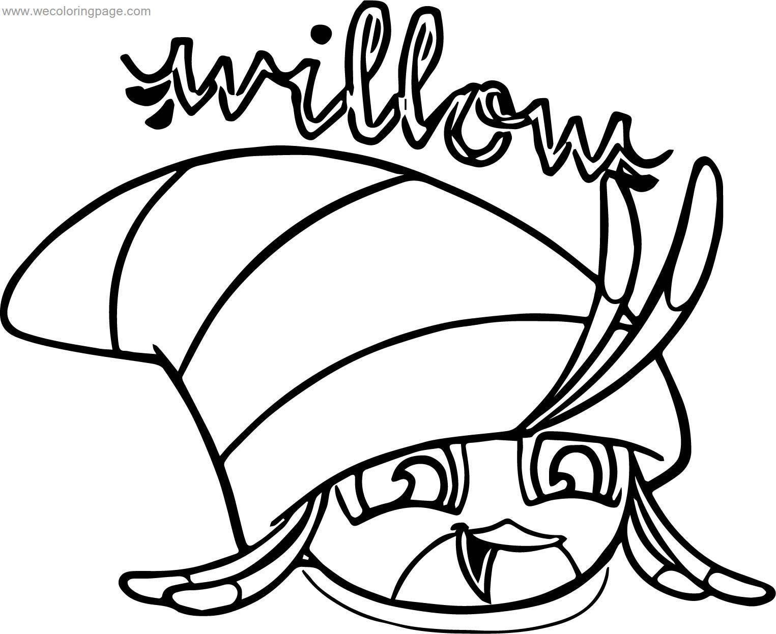 Angry Birds Stella Guide Birds Willow wecoloringpage.com Coloring Page