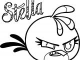Angry Birds Stella Guide Coloring Page