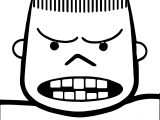 Angry Boy Teeth Coloring Page