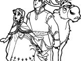 Anna Kristoff Sven Olaf Coloring Page