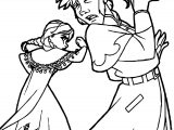 Anna Punches Hans Coloring Page