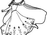 Anna Running Coloring Page